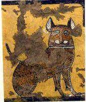 Gato en un mural egipcio