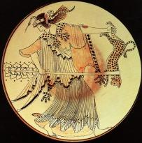 Gato representado en una ilustración de la Grecia Clásica