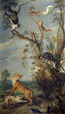Cuadro de Franz Snyder, La gata y el zorro Siglo XVI