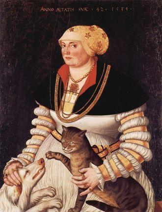 Pintura de Hans Asper (1499–1571), retrato de Cleophea Holzhalb